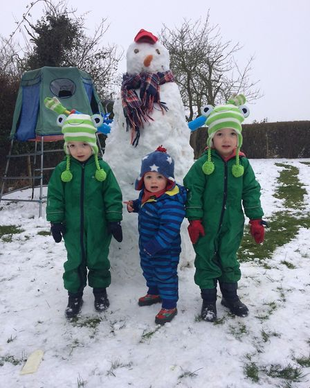 Brothers Tom and Ted with younger brother Henry, pictured centre. Picture: SUPPLIED BY FAMILY