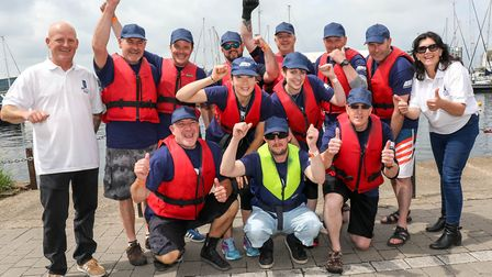 A team from ABP at the Dragon Boat races, held adjacent to their Haven Marina offices Picture: ST
