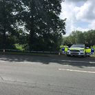 Police at the scene in Cullum Road, Bury St Edmunds Picture: RUSSELL COOK