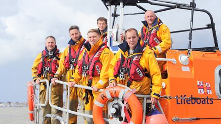 Community work: Ipswich Town players Cole Skuse and Martyn Waghorn took to the sea when they went ou