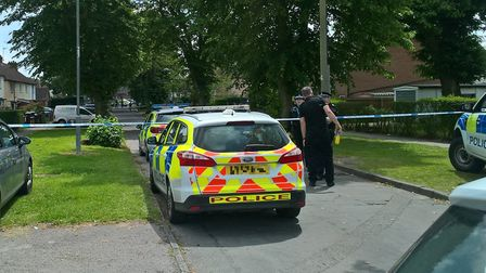 A heavy police presence remains in the area of Packard Avenue in Ipswich after a teenager suffered f