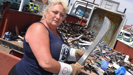 Caroline Shearer who founded Only Cowards Carry wants to help tackle knife crime in Suffolk Picture: