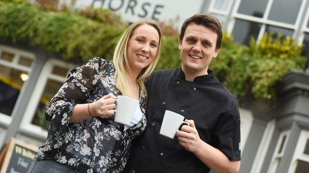 Ashley Coote and partner Gary Addison host Meet Up Monday events at The White Horse in Sudbury Pi