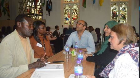 The Taking Your Place event at Ipswich International Church encouraged people to discuss solutions t