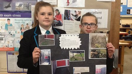 Students at Ormiston Sudbury Academy worked on innovative designs to solve everyday problems Picture