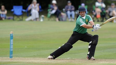 Bury St Edmunds captain, Sean Park, who top-scored with 46 in his side's defeat to Norwich. Picture: