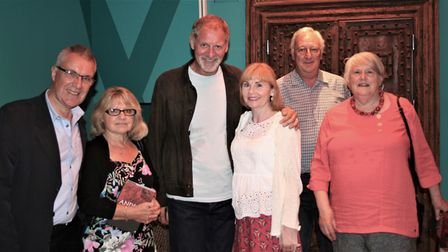 The Stonepath Meadow Residents Group with Sir Andrew Motion. Left to right: Mark East, Julia East, S