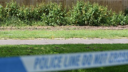 A police cordon was in place at the scene last week Picture: SARAH LUCY BROWN