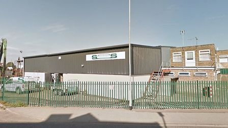 The incident happened at Sackers recycling centre in Claydon Business Park Picture: GOOGLE MAPS
