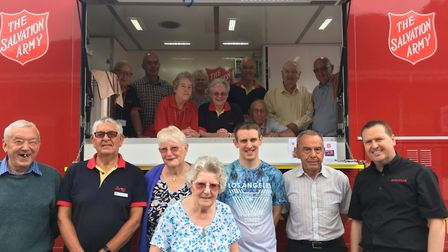 Volunteers from The Salvation Army's Suffolk Emergency Response Team (1978-2018) Picture: THE SALVAT