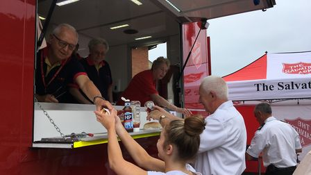 Guests were served a celebratory menu featuring favourites of Suffolk�s emergency services, includin