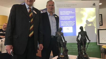 Graeme Cooper and Steve Bird of Corporate Battlefield, one of the stallholders present at Essex Cham