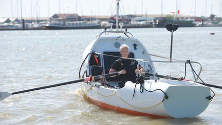 Dawn Wood training on the River Crouch in Essex Picture: WARREN PAGE / ANGLIA PRESS AGENCY