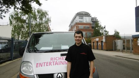 Ipswich entrepreneur Shaun Riches, whose entertainment hire business received a call from television
