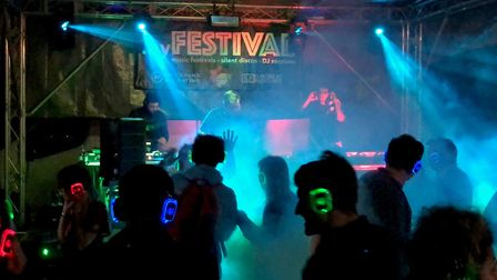 One of the silent discos taking place at SpringFest Picture: IAN MATTHEWS