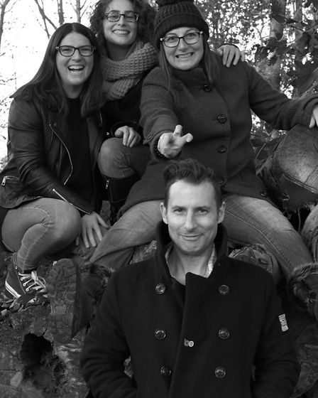 Matthew Pettigrew and his sisters Picture: HANNAH WALMSLEY OF WHITE FEATHER PHOTOGRAPHY