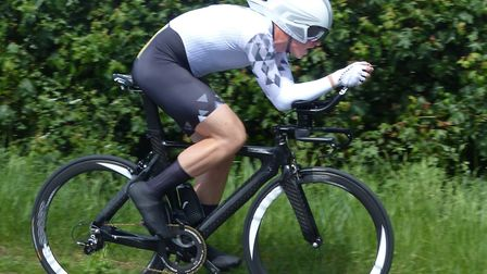 Andy Proffitt of Ipswich BC was level at two miles of the Orwell Velo, but eventually second. Pictur