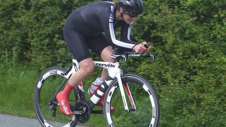 Mathilde Pauls – fastest of the two women who started at the Orwell Velo. Picture: FERGUS MUIR