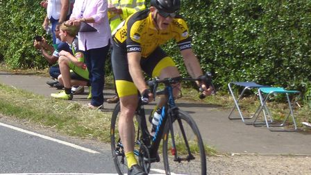 Gavin Carter (Stowmarket & District) takes the win at Colchester Rovers' Abberton Road Race. Picture