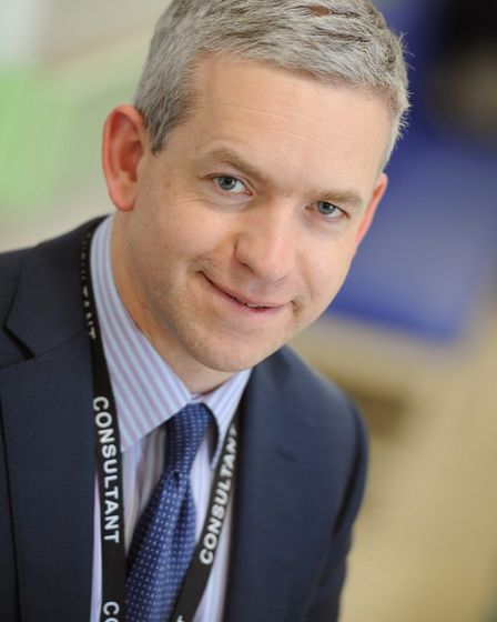 Dr Ian Gooding, consultant gastroenterologist at Colchester General Hospital Picture: STEPHEN BOND