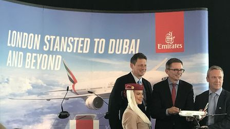 Launch of new Emirates services from London Stansted - to Dubai and beyond. Hubert Frach, Emirates D