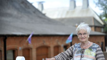 Liz Calder at Snape Maltings. The co-founder of FlipSide has been awarded a CBE for services to lite