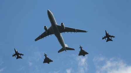 Flypast for the Queen's Birthday.