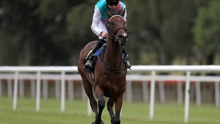 Calyx ridden by Robert Havlin wins The AFT Fluorotec EBF Novice Stakes at Newmarket. Picture: PA SPO