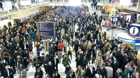 Services to London Liverpool Street are likely to be disrupted tomorrow Picture: JOSEPH SPEAR