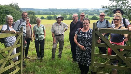 Participants who took part in the Mayor's Walk from Bures to Dedham in the Dedham Vale AONB