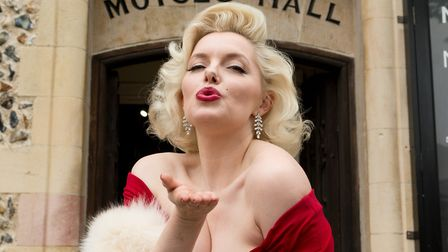 Suzie Kennedy, the world's leading Marilyn Monroe tribute artist, opens the 'Timeless' exhibition at