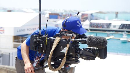 A cameraman shooting footage at a sports event Picture: Timeline Television Ltd
