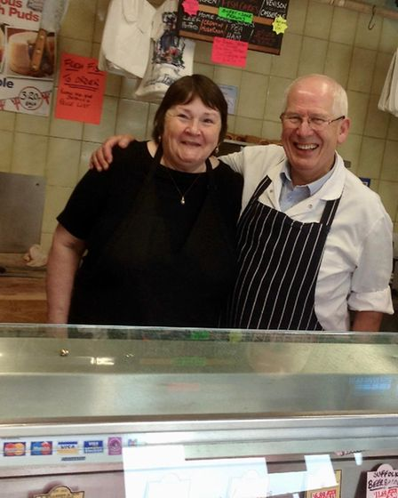 Ann and Andy Formoy have been running their butchers for 25 years Picture: IRENE KETTLE