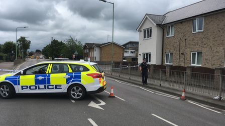 Exning Road was closed after a major gas leak in Newmarket Picture: RUSSELL COOK