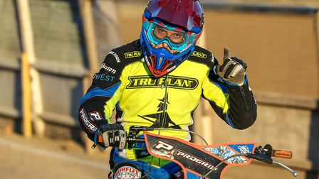 Nico Covatti celebrates after his win in heat eight last night. Picture: Steve Waller www.step