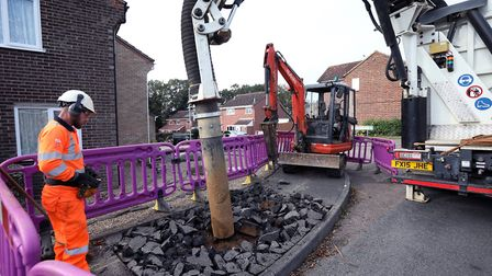 Anglian Water laying new mains in the Stoke Park and Chantry areas of Ipswich in 2017 Picture: ANGLI