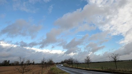 Cloud in the skies over Framlingham Picture: SARAH LUCY BROWN