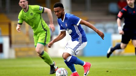 Grant Ward pictured in pre-season action at Irish side Drogheda last summer. Hurst wants to change t