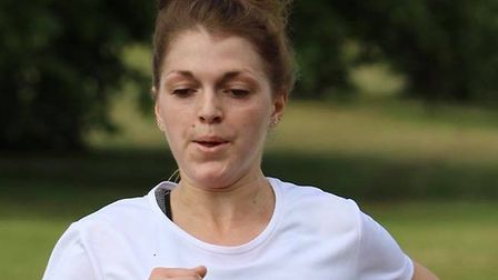 Daisy Glover, on her way to first spot at Saturday's Great Cornard parkrun. Picture: GREAT CORNARD P