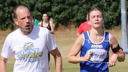 Runners approach the finish of the 5K course at Saturday's Great Cornard parkrun. Picture: GREAT COR