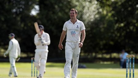 Tom Rash, who took the first three wickets to fall in Mildenhall's seven-wicket win at Sudbury. Pict