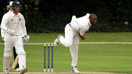 Merv Westfield, who scored a half-century and took four wickets in Frinton's win over Cambridge Gran
