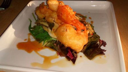 Tempura prawns with lime and soy dressing Picture: Charlotte Smith-Jarvis