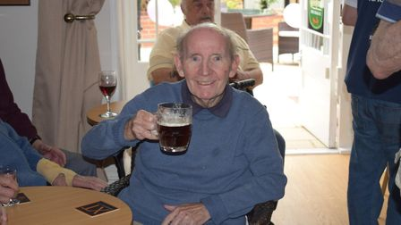 Resident Tom Smith enjoying a drink at the Snug Picture: GREENSLEEVES CARE