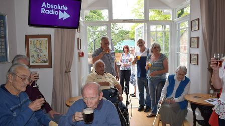 Everyone enjoying a drink at the specially designed nightclub and pub Picture: GREENSLEEVES CARE