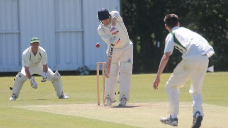 Joe Rusby, who scored 104 not out in Ipswich's win over Woolpit. Picture: GARY DONNISON