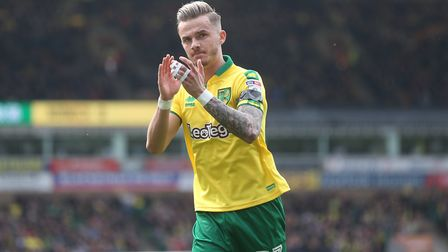 Norwich City star man James Maddison is on the verge of a �24m move to Leicester City. Photo: Paul C