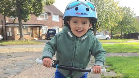 Three-year-old Oliver Reynolds, who has Duchenne Muscular Dystrophy Picture: PROVIDED BY PAUL REYNOL