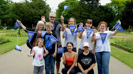 Families get ready for Suffolk Day at Abbey Gardens in Bury St Edmunds PICTURE: Andy Abbott