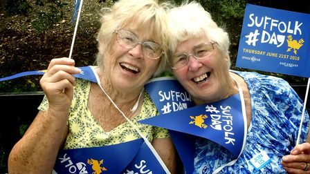 Ann Clarke, 79, and Jane Carter, 81, visit Bury St Edmunds from Tollesbury PICTURE: Andy Abbott